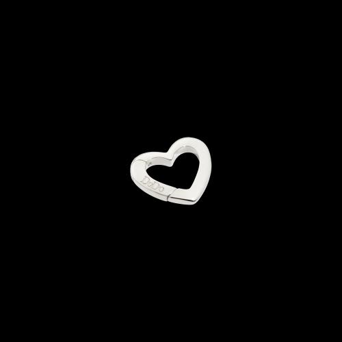 DODO VALENTINE'S - CUORE - moschettone cuore in argento- piccolo - DTCUT/A/P/K