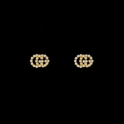 ORECCHINI GUCCI GG RUNNING IN ORO GIALLO E DIAMANTI - YBD48167600100U