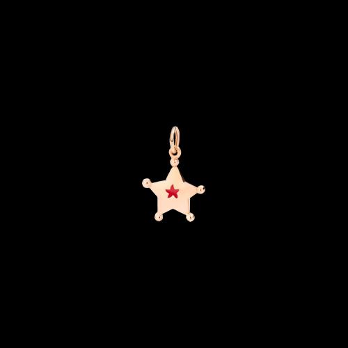 Dodo Sogni - Stella in oro rosa e smalto rosso - DMEVO/ST/9/K