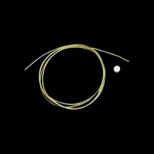 DODO CORDINI - CORDINO SOTTILE - Cordino verde mela sottile - SIGILLO IN ARGENTO NON INCLUSO - DC.VEM1