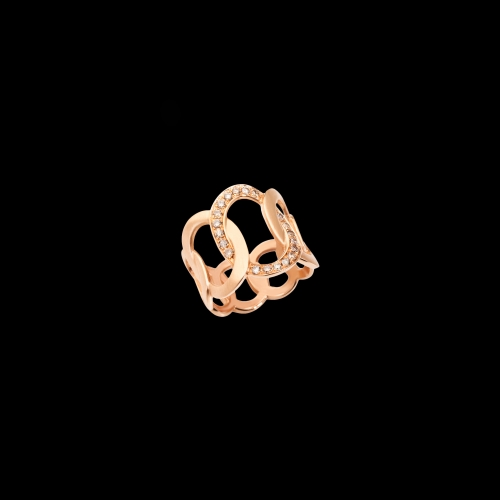 POMELLATO - ANELLO BRERA IN ORO ROSA E DIAMANTI BROWN  - A.B910/BR/O7