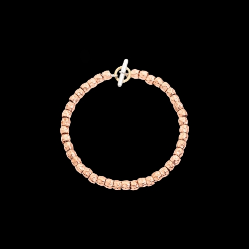 DODO GOOD LUCK - KIT BRACCIALE GRANELLI IN ORO ROSA, ANIMA IN ARGENTO - DKB/3/9/K