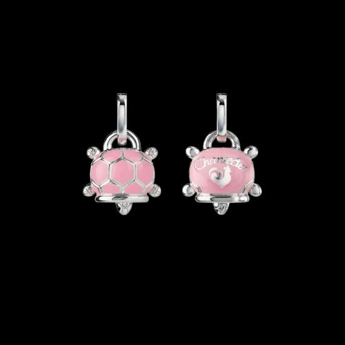 Ciondolo Campanelle Tartaruga in argento e smalto rosa - 38240