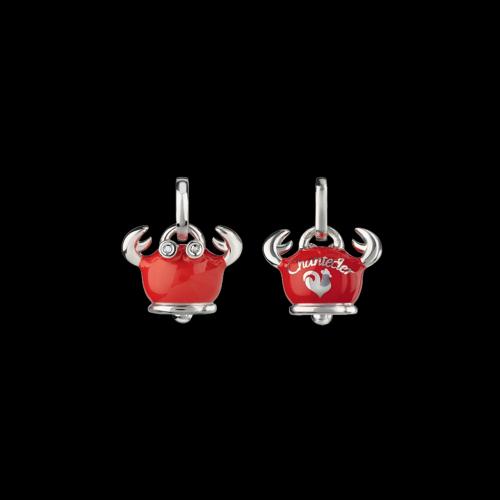 Ciondolo Campanelle Granchio in argento e smalto rosso - 38239