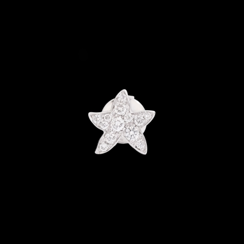 DODO FOLLOW YOUR DREAMS - STELLA - ORECCHINO SINGOLO STELLINA IN ORO BIANCO 18 KT E DIAMANTI - DOHSTP/OB/B