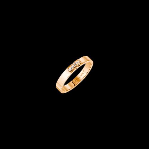 CHAUMET - FEDE NUZIALE LIENS ÉVIDENCE IN ORO ROSA E DIAMANTI - 082560