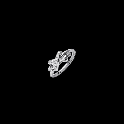 CHAUMET - ANELLO JEUX DE LIENS  IN ORO BIANCO E DIAMANTI - 081240