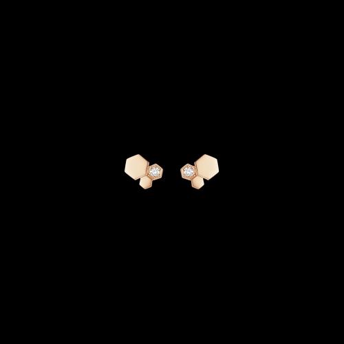 CHAUMET - ORECCHINI BEE MY LOVE IN ORO ROSA E DIAMANTI - 083985