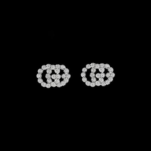 ORECCHINI GG RUNNING IN ORO BIANCO E DIAMANTI - YBD48167600300U