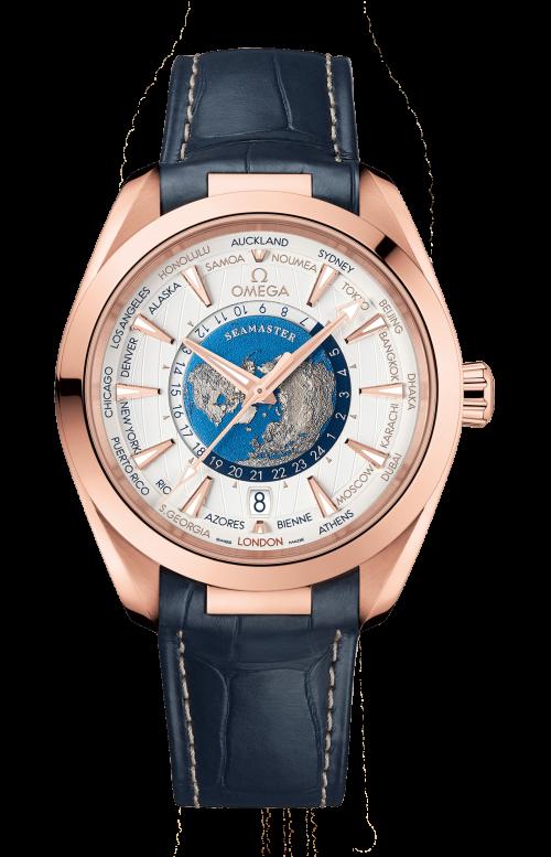 SEAMASTER AQUA TERRA 150M OMEGA CO-AXIAL MASTER CHRONOMETER GMT WORLDTIMER 43 MM - 220.53.43.22.02.001