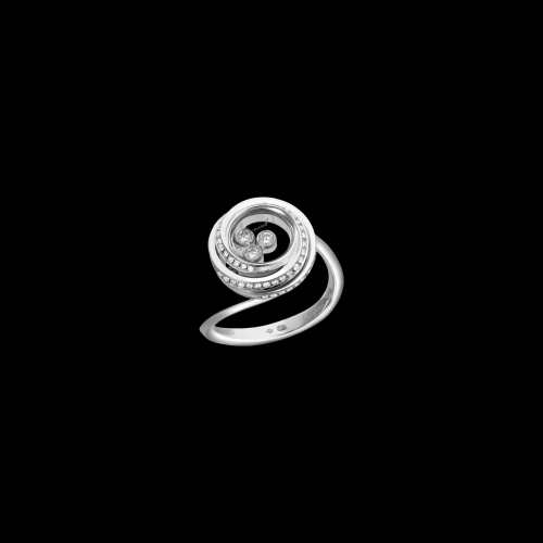 CHOPARD - HAPPY EMOTIONS - ANELLO IN ORO BIANCO CON DIAMANTI - 829216-1039