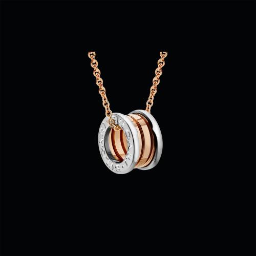 Pendente B.zero1 in oro rosa e oro bianco 18 carati - CL857655