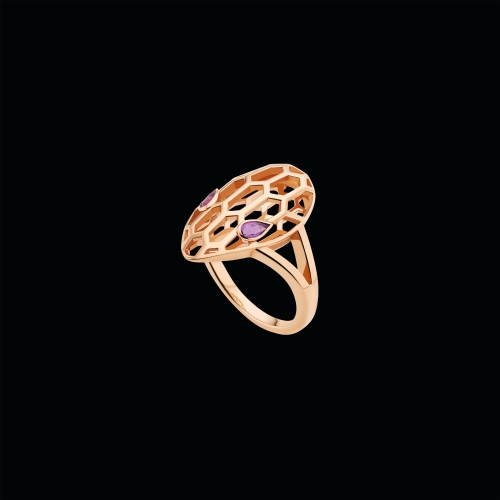 Anello Serpenti in oro rosa e ametista - AN857656
