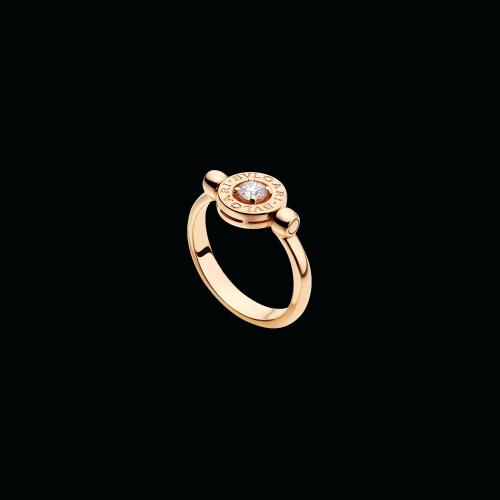 Anello girevole BVLGARI BVLGARI in oro rosa 18 carati con diamante di 0,25 carati - AN853336