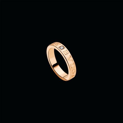 Anello BVLGARI BVLGARI in oro rosa 18 carati con diamante - AN854185