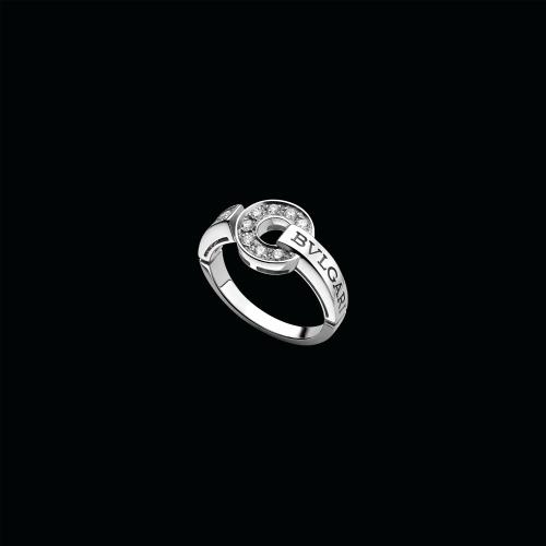Anello BVLGARI BVLGARI in oro bianco 18 carati con pavé di diamanti - AN854619