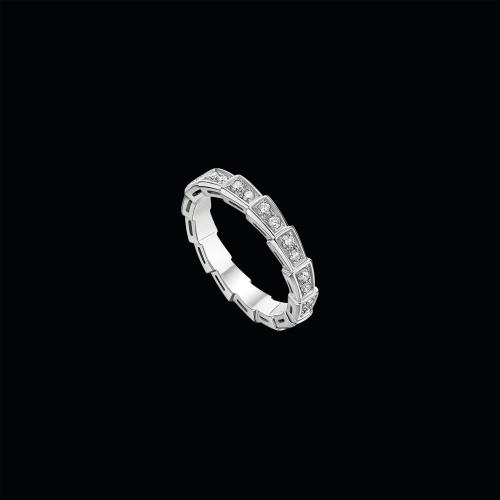 Fede nuziale Serpenti in oro bianco 18 carati con pavé di diamanti - AN856949