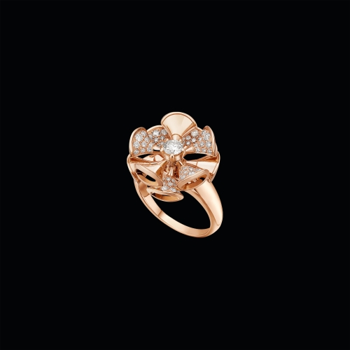 Anello DIVAS' DREAM in oro rosa 18 carati con diamanti - AN857078
