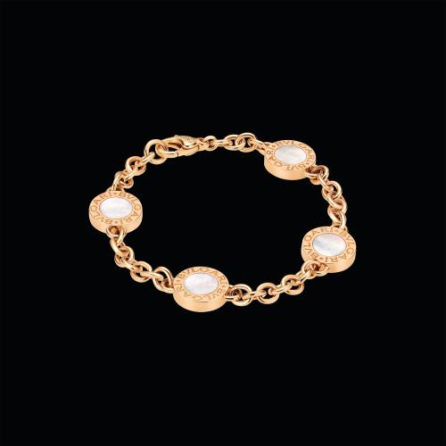 Bracciale BVLGARI BVLGARI in oro rosa 18 carati con madreperla e onice - BR856239