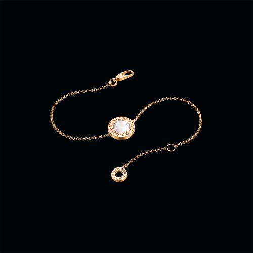 Bracciale BVLGARI BVLGARI in oro rosa 18 carati con madreperla. Lunghezza 15-17 cm - BR857192