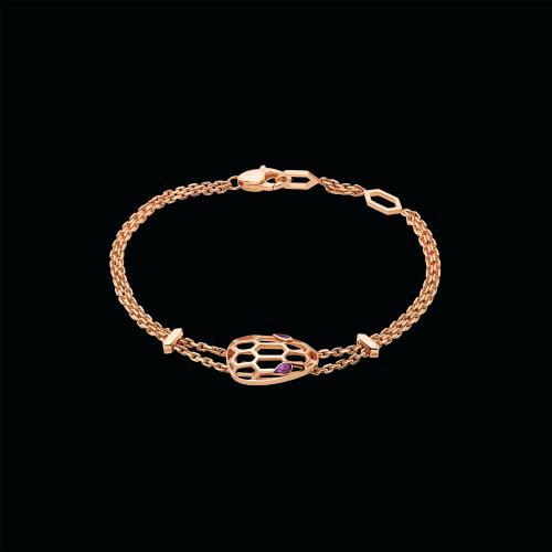 Bracciale Serpenti in oro rosa e amentista - BR857739
