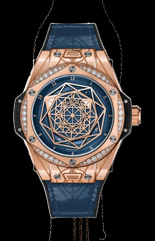 BIG BANG ONE CLICK SANG BLEU KING GOLD BLUE DIAMONDS - 465.OS.7189.VR.1204.MXM19