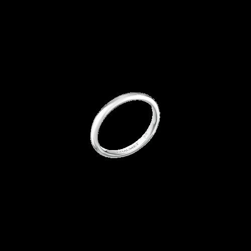 CHAUMET - FEDE NUZIALE LES ETERNELLES DE CHAUMET CLASSIC IN PLATINO CON INCASTONATO UN DIAMANTE SEGRETO - 081779