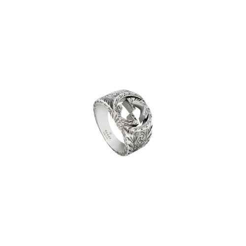 ANELLO GUCCI INTERLOCKING IN ARGENTO - YBC4553020010