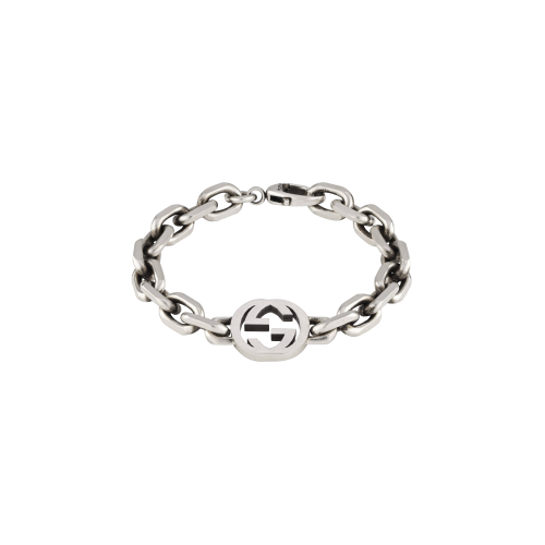 BRACCIALE INTERLOCKING IN ARGENTO - YBA6270680010