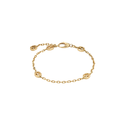 BRACCIALE GUCCI INTERLOCKING IN ORO GIALLO - YBA6299040010
