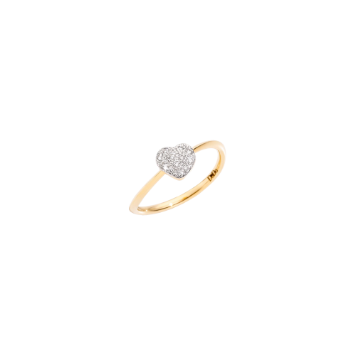 DODO ICON - ANELLO CUORE IN ORO GIALLO E DIAMANTI - ADCUPPOG/B