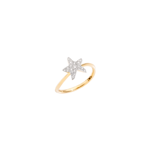 DODO ICON - ANELLO STELLA IN ORO GIALLO E DIAMANTI - ADSTPOG/B