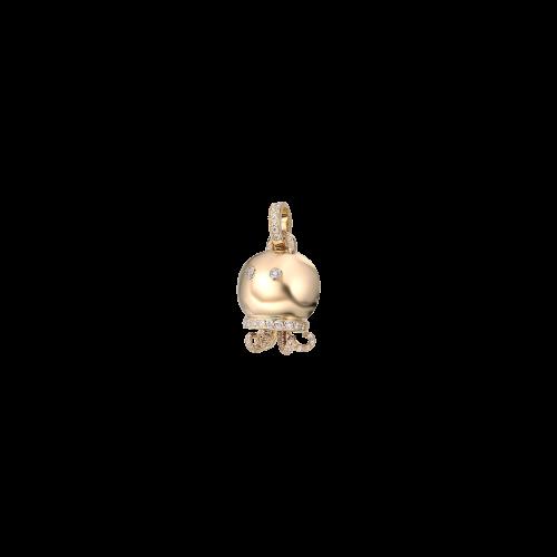 CIONDOLO CHANTECLER MARINELLE POLPO IN ORO GIALLO E DIAMANTI - 25137