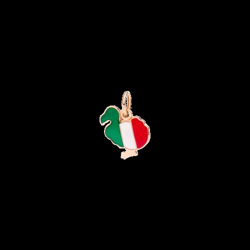 DODO BANDIERA - DODO ITALIANO - CIONDOLO DODO IN ORO ROSA E SMALTI - DM/ITA/9/K