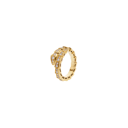 ANELLO SERPENTI VIPER IN ORO GIALLO CON PAVÉ DI DIAMANTI