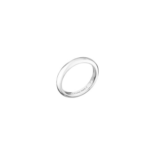 CHAUMET - FEDE NUZIALE LES ETERNELLES DE CHAUMET CLASSIQUE IN PLATINO CON INCASTONATO UN DIAMANTE SEGRETO - 080299