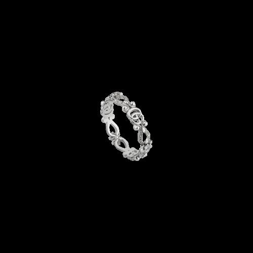 ANELLO GUCCI FLORA IN ORO BIANCO CON DIAMANTI - YBC6298270020