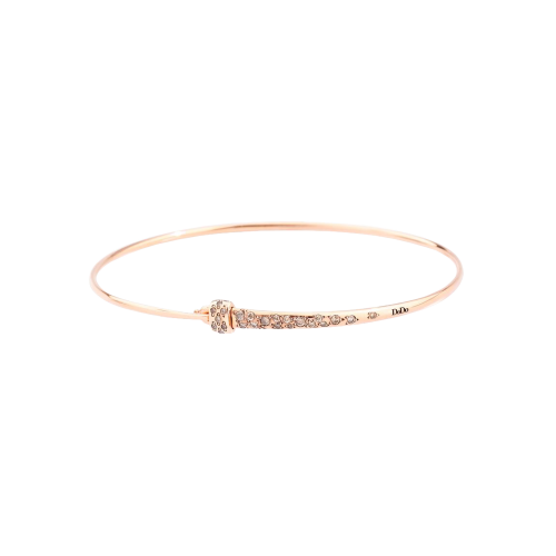 DODO BANGLE - BRACCIALE BANGLE IN ORO ROSA CON DIAMANTI BROWN - DBR/LOCKBR/9