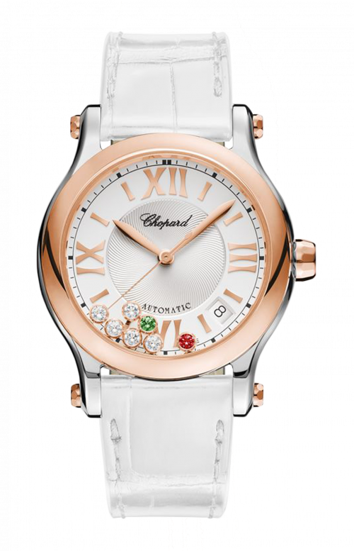 HAPPY SPORT ITALY SPECIAL EDITION 36 MM, AUTOMATIC, ORO ROSA, ACCIAIO INOX, DIAMANTI, RUBINI, TSAVORITE - 278559-6020