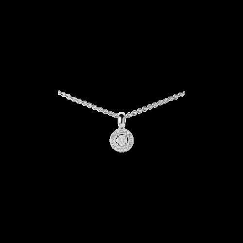 Pendente BVLGARI·BVLGARI con diamante e catena in oro bianco 18 carati - CL853447
