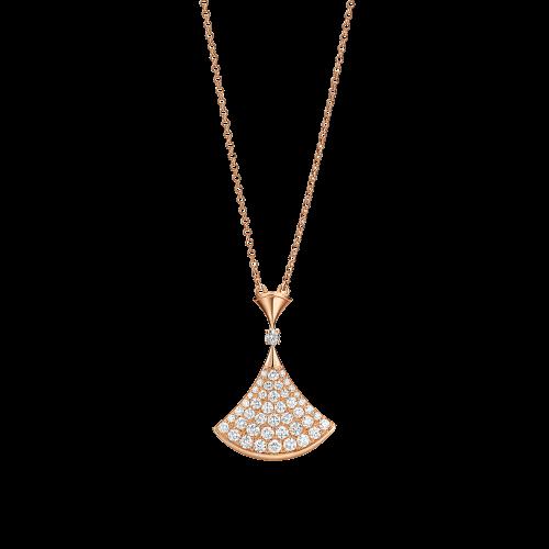Collana DIVAS' DREAM in oro rosa 18 carati con pavÉ di diamanti - CL856966