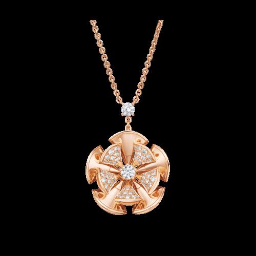 Collana DIVAS' DREAM in oro rosa 18 carati con diamanti. Lunghezza 41-43 cm - CL857128