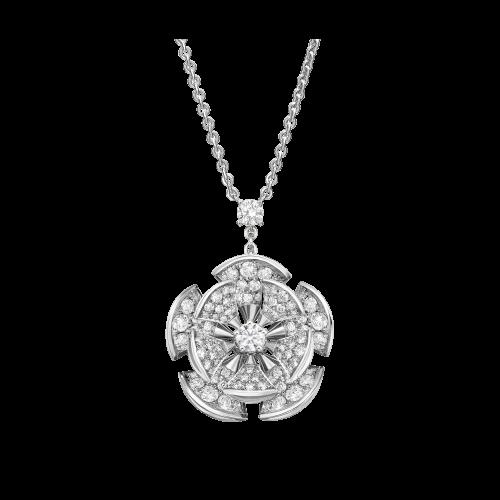 Collana DIVAS' DREAM in oro bianco 18 carati con diamanti. Lunghezza 41-43 cm - CL857316
