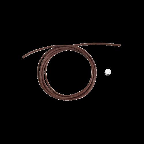 DODO CORDINI - CORDINO SPESSO - Cordino marrone spesso con sigillo in argento - DC.SIG/A/MO3/K
