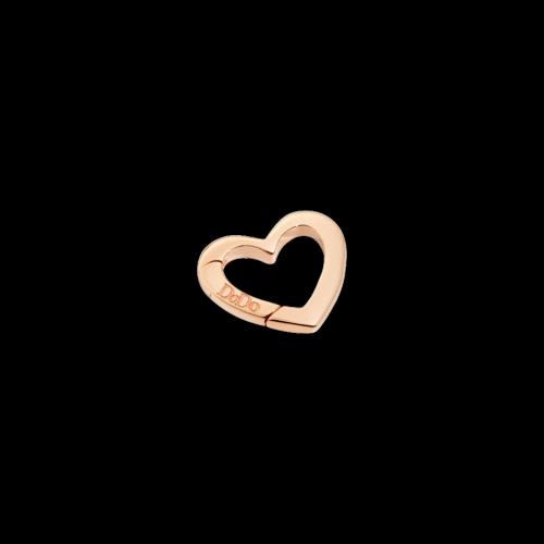DODO VALENTINE'S - CUORE - moschettone cuore in oro rosa 9 kt - grande - DTCUT/9/G/K