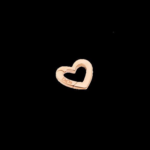 DODO VALENTINE'S - CUORE - moschettone cuore in oro rosa 9 kt - modello piccolo - DTCUT/9/P/K