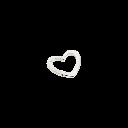 DODO VALENTINE'S - CUORE - moschettone cuore in argento- modello piccolo - DTCUT/A/P/K