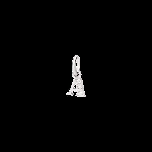DODO ALFABETO - LETTERA A PREZIOSO IN ORO BIANCO E DIAMANTI - DLETPOB/B/A