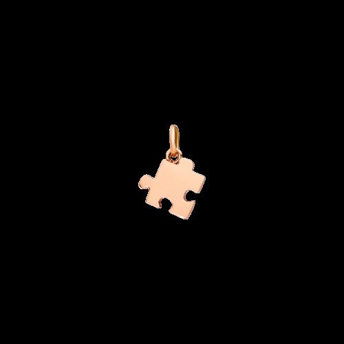DODO PUZZLE - CIONDOLO PUZZLE - CIONDOLO IN ORO ROSA -VERSIONE SINISTRA - DMPUZ/9/L