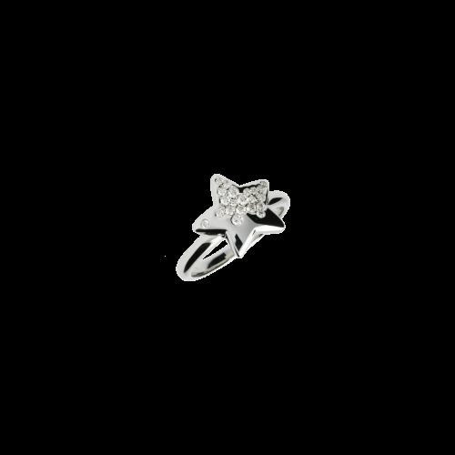 Anello Stella in oro bianco e diamanti bianchi